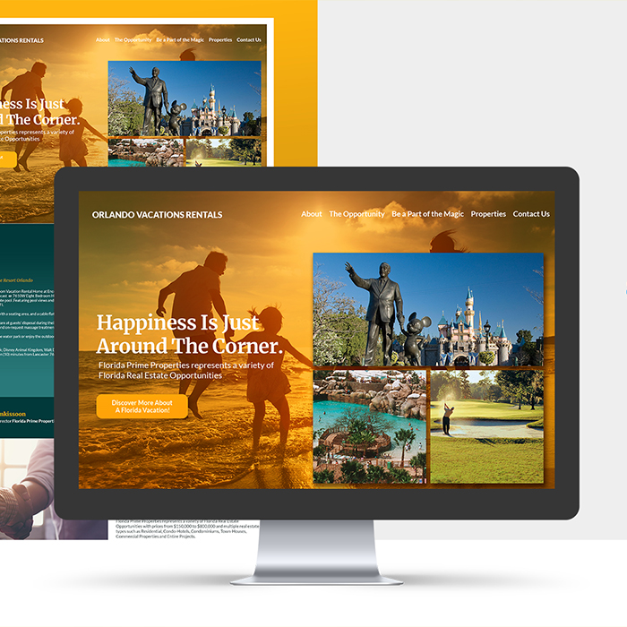 Orlando Vacation Rentals Website Design and Development